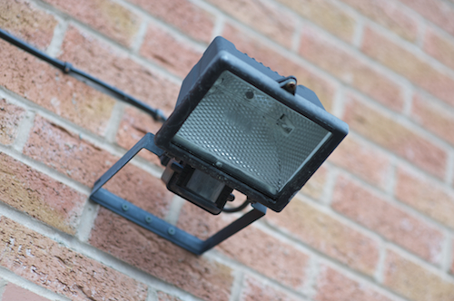 Manchester security lighting installation service repair hba good security lighting makes the burglars job much more difficult it denies them the cover of darkness which they use to conceal their presence mozeypictures Images